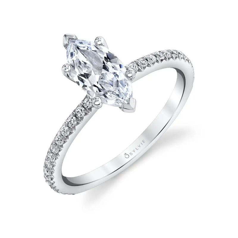 Marquise Engagement Ring - Adorlee