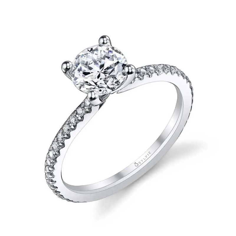Round Classic Engagement Ring - Adorlee