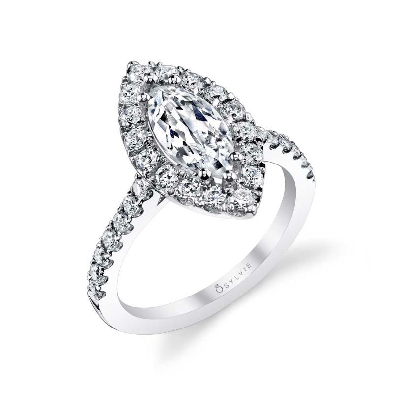 Marquise Engagement Ring With Halo - Jacalyn