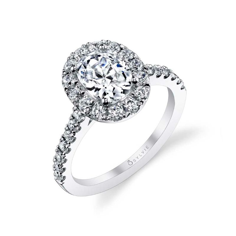 Oval Engagement Ring With Halo - Jacalyn