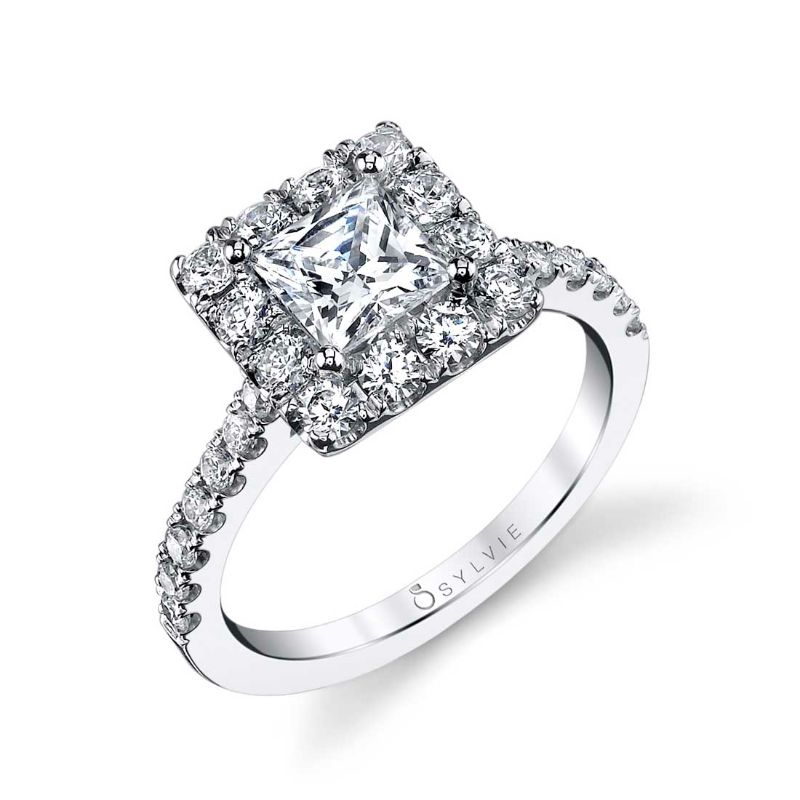 Princess Cut Engagement Ring With Halo - Jacalyn
