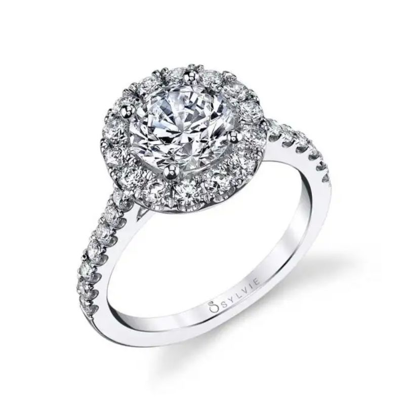 Classic Round Halo Engagement Ring - Jacalyn