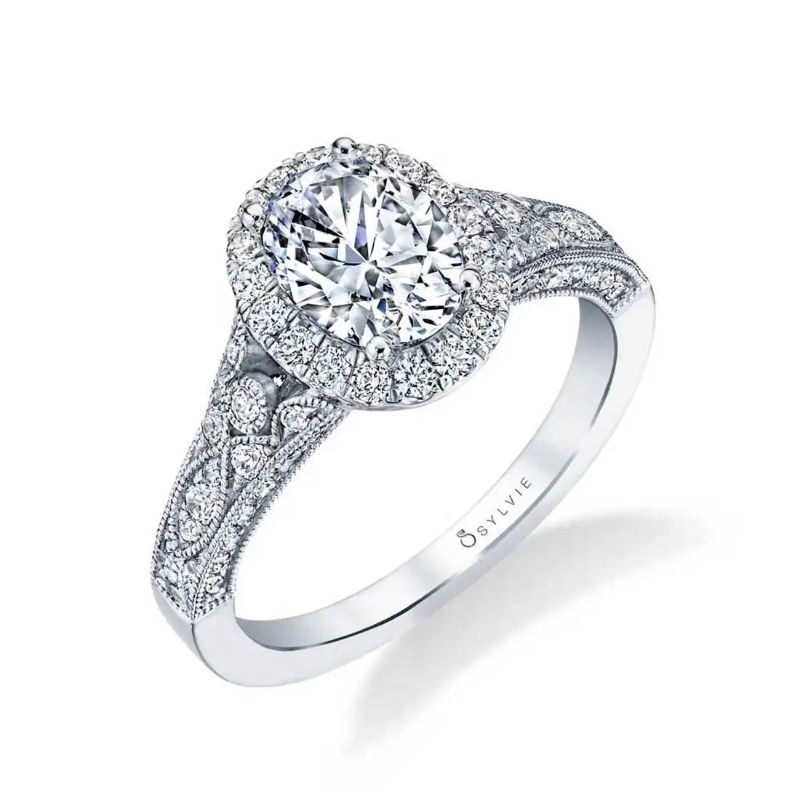 Vintage Inspired Oval Engagement Ring - Cheri