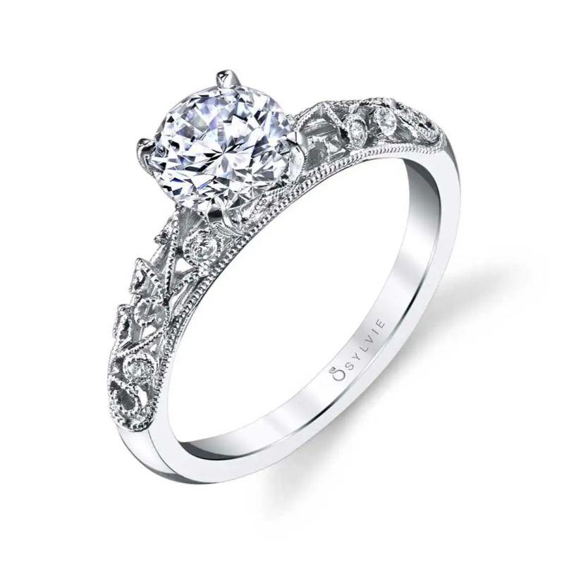 Vintage Inspired Engagement Ring - Elaina