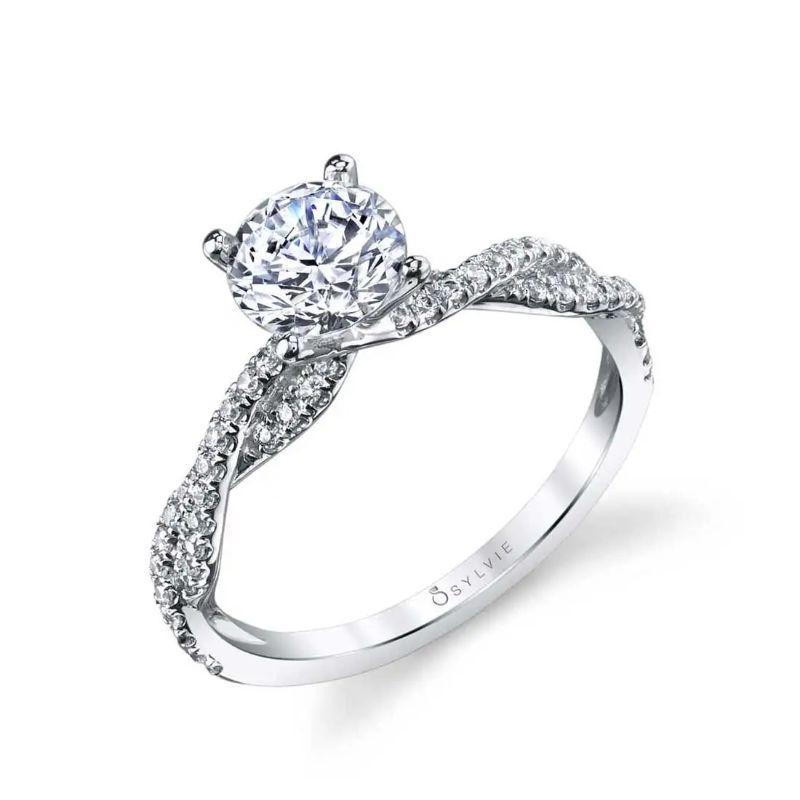 Spiral Engagement Ring - Leana