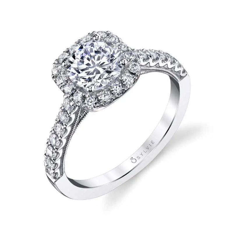 Halo Engagement Ring - Diandra