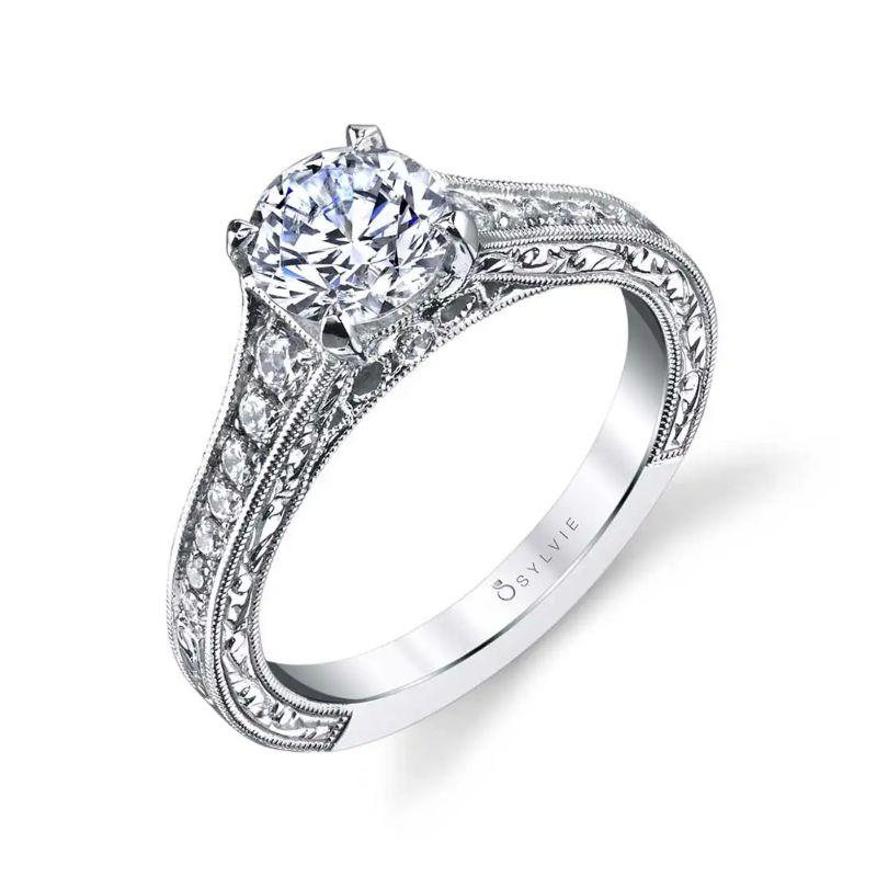 Vintage Inspired Classic Engagement Ring - Julita