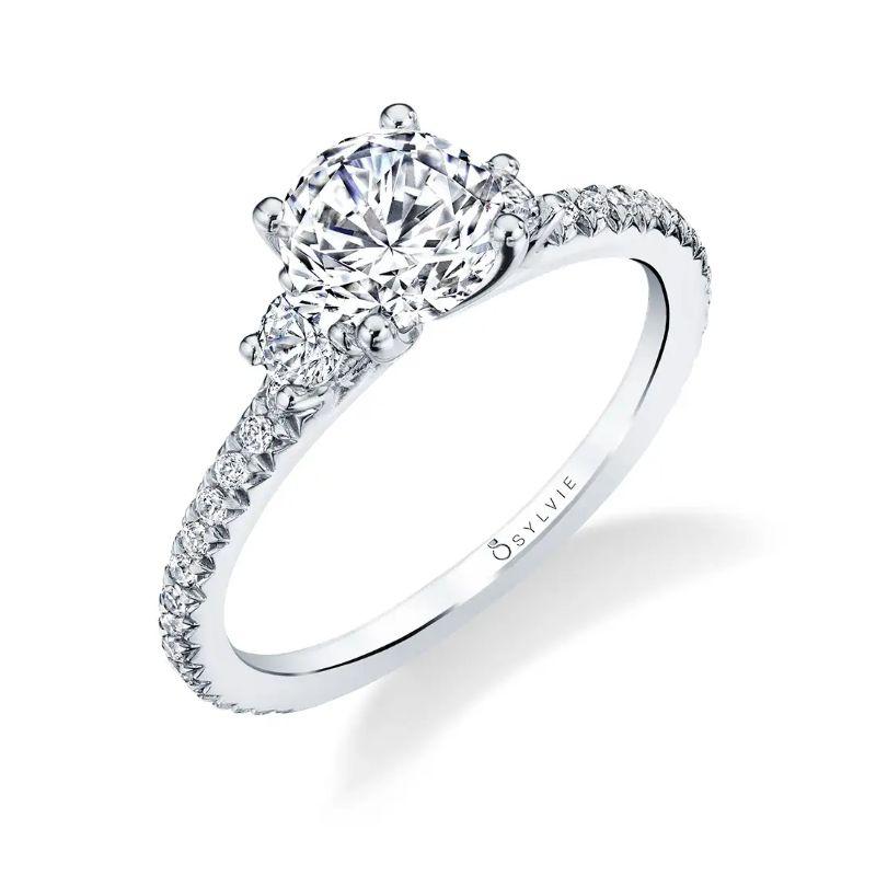 Classic Three Stone Engagement Ring - Eloise