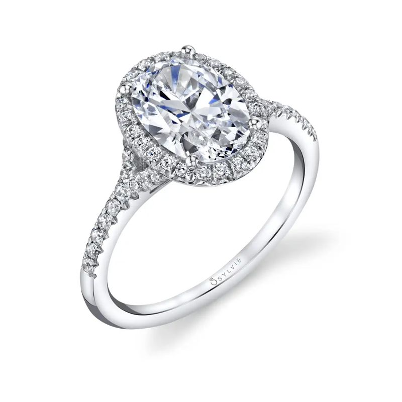 Oval Engagement Ring With Halo - Alexandra