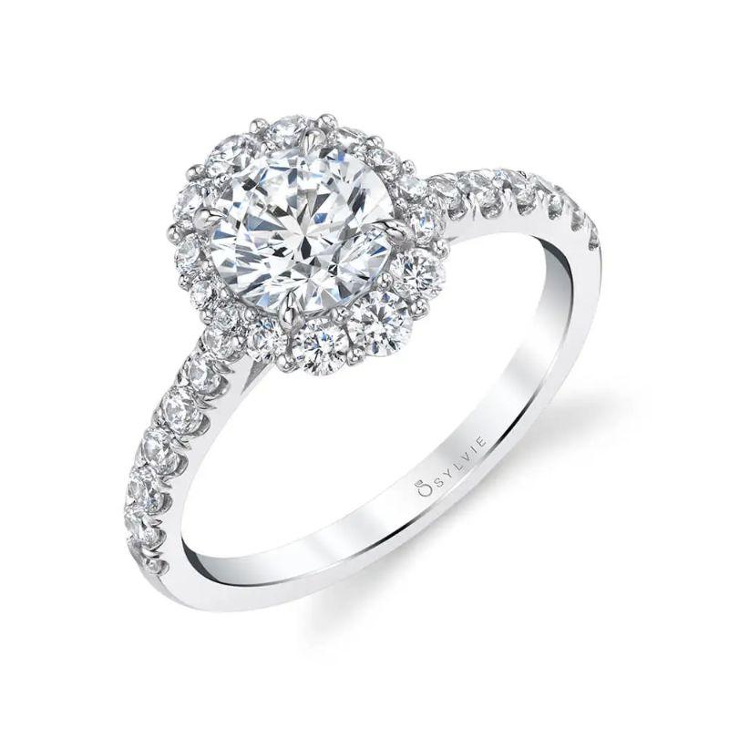 Halo Engagement Ring - Jillian