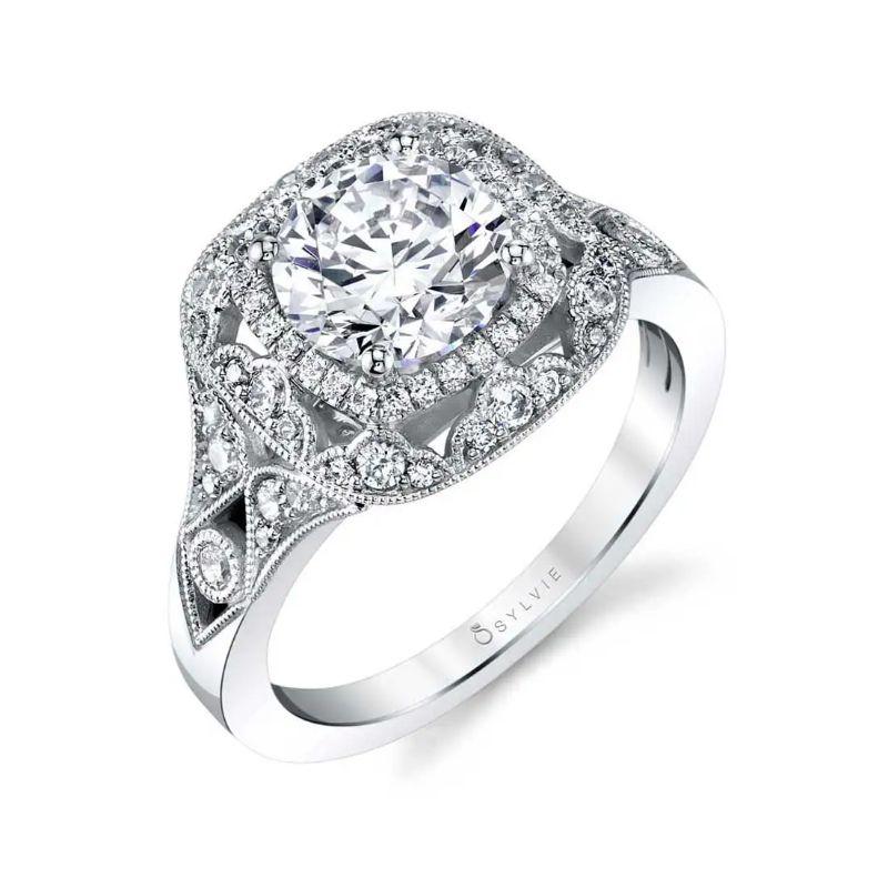 Vintage Inspired Engagement Ring In Rose Gold - Jade