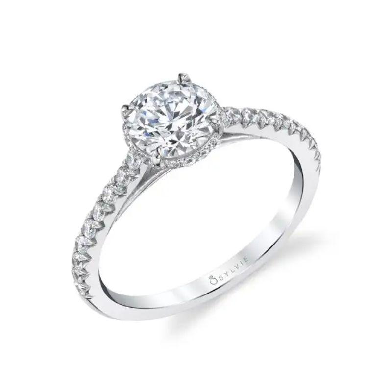 Hidden Halo Engagement Ring - Harmonie