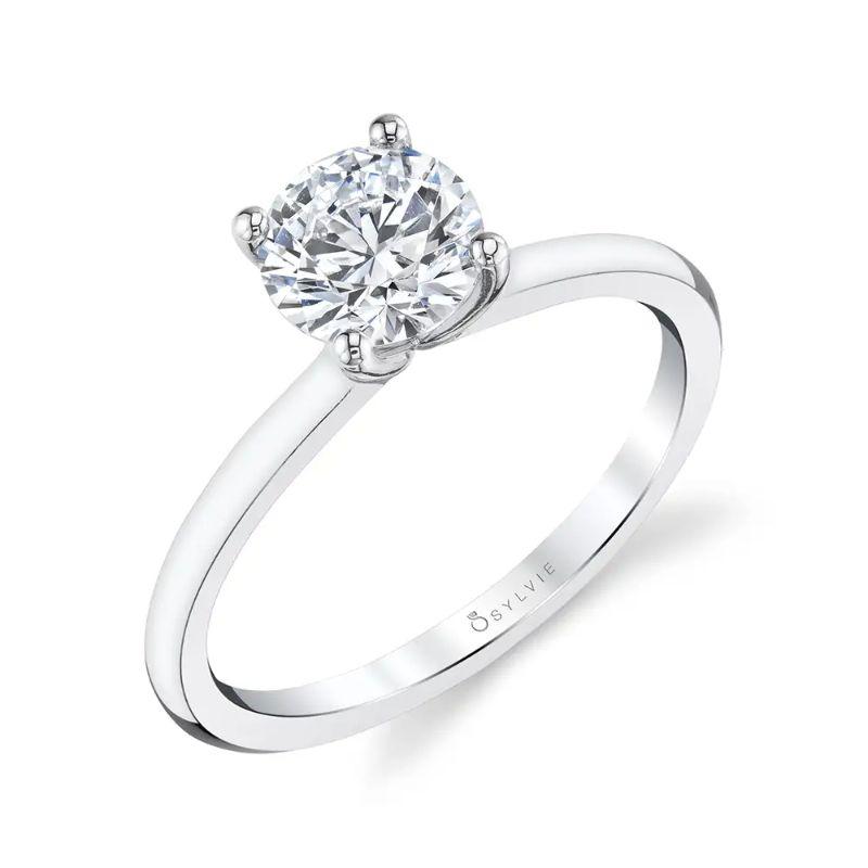 Solitaire Engagement Ring - Dominique