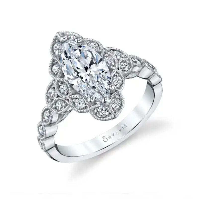 Flower Engagement Ring - Jori