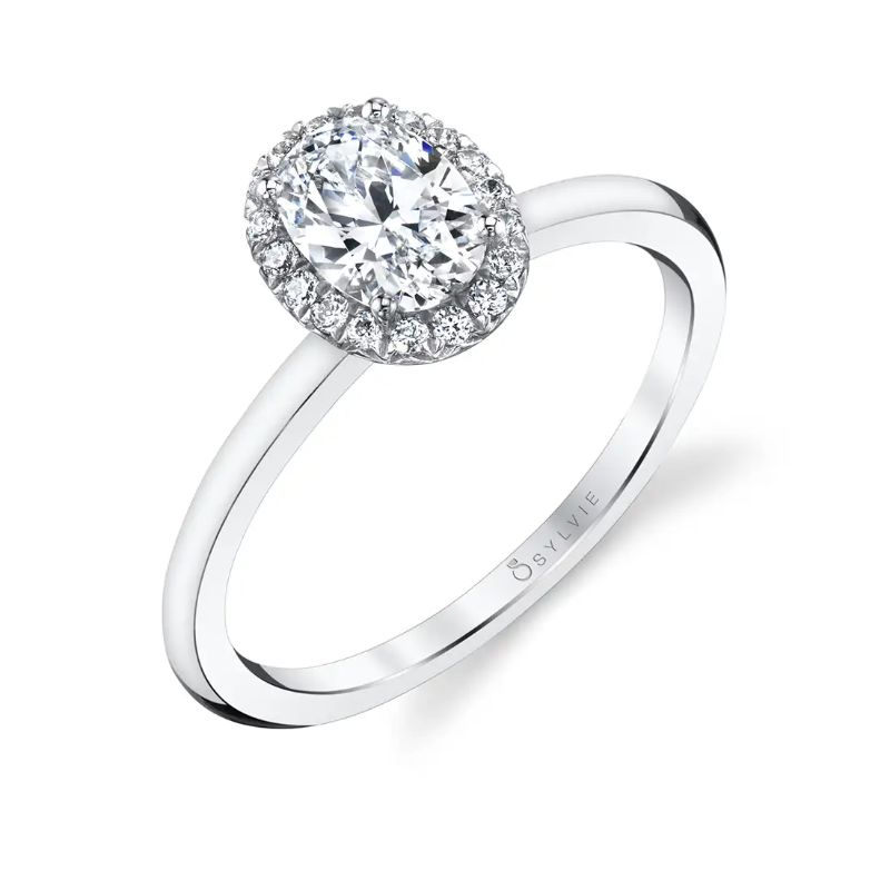 Classic Oval Halo Engagement Ring - Elsie