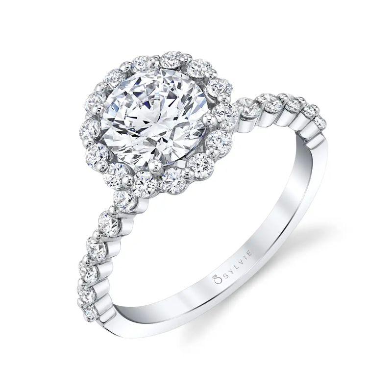Halo Engagement Ring - Athena