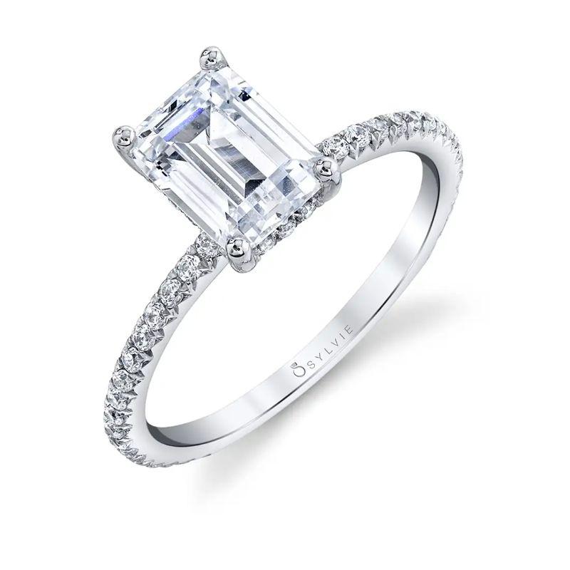 Emerald Cut Engagement Ring - Maryam