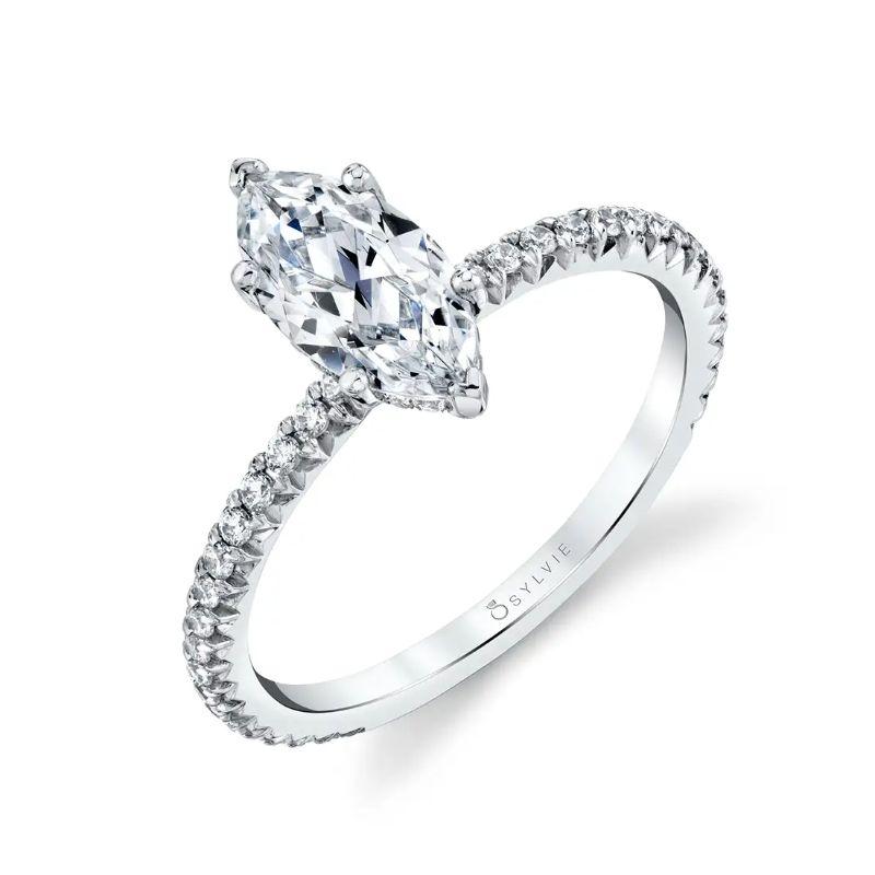 Marquise Engagement Ring - Maryam