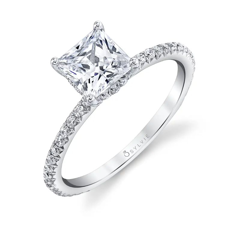 Princess Cut Engagement Ring - Maryam