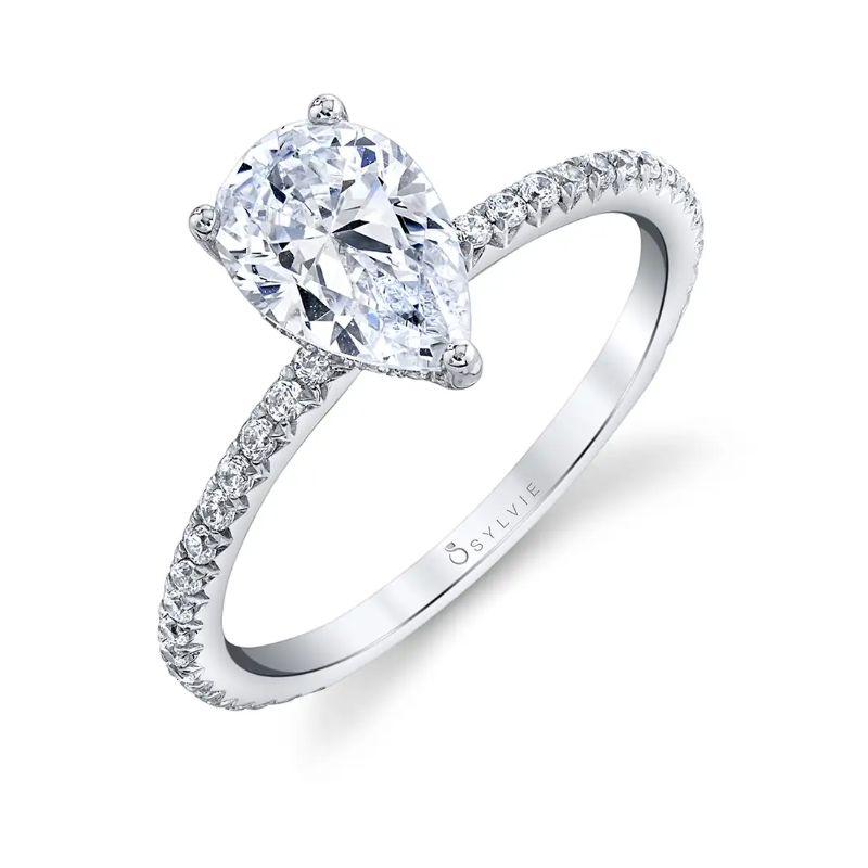 Pear Shaped Engagement Ring - Maryam