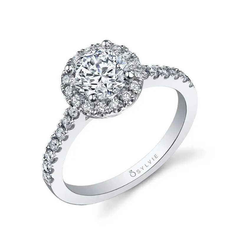 Classic Round Halo Engagement Ring - Chantelle